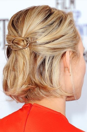 Pinned Back Waves Easy Updos for Short Hair to do Yourself 4 Pinned-Back-Waves-Easy-Updos-for-Short-Hair-to-do-Yourself-4