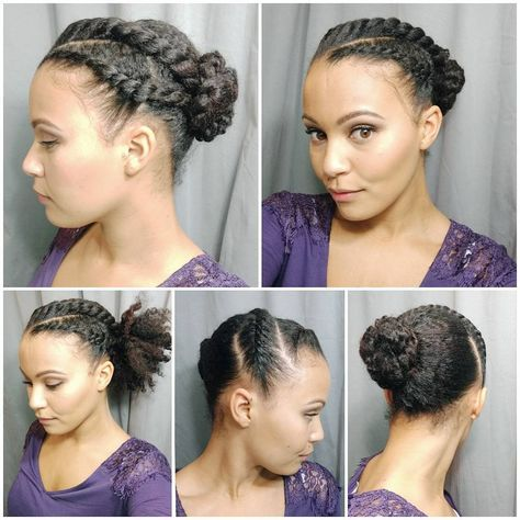 PinnedBack Twist Hairstyle Easy Updos for Short Hair to do Yourself 2
