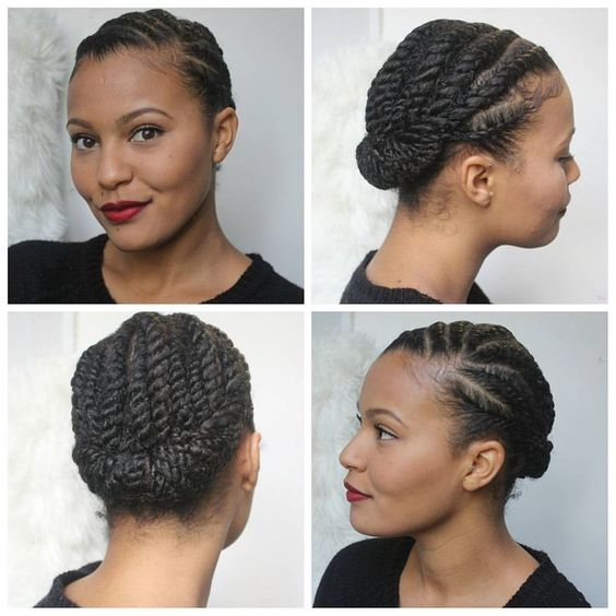 PinnedBack Twist Hairstyle Easy Updos for Short Hair to do Yourself 4