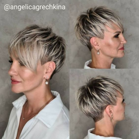 15 Best Older Women Hairstyles for Formal Events (Updated 2021) Pixie-wedge