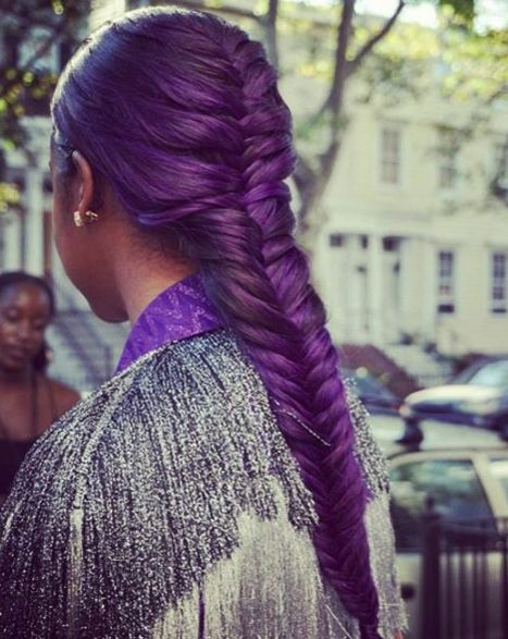 Punky Purple Most Inspiring Braids Hairstyle for Women 5