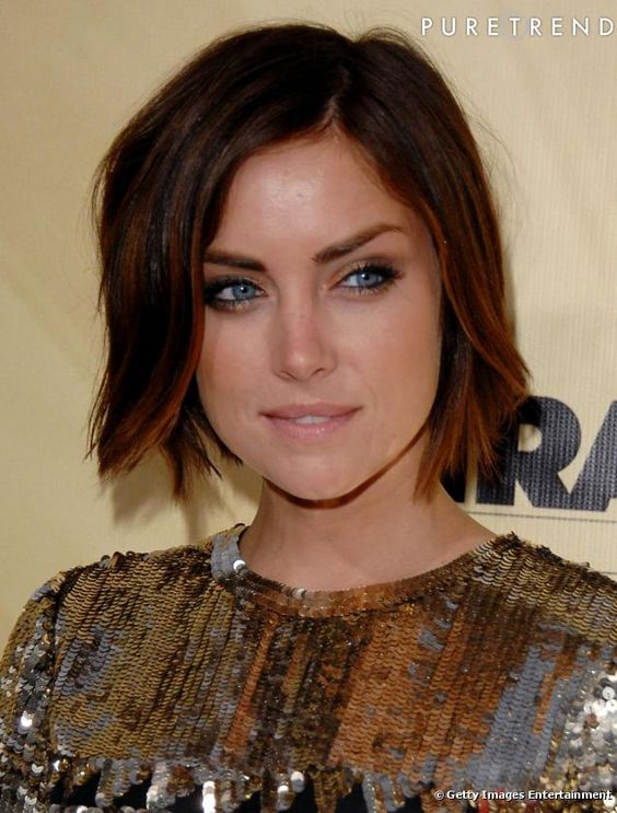 20 Charming Short Brown Hairstyles for Women Over 60 (Updated 2021) Reddish-brownish-angled-bob