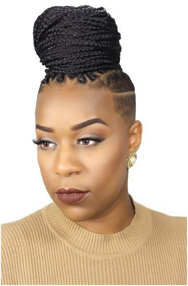 Shaven Sides Most Inspiring Braids Hairstyle for Women 4