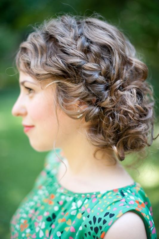 Short Natural Curly Up-Do Easiest Short Curly Hairstyles Ideas 2