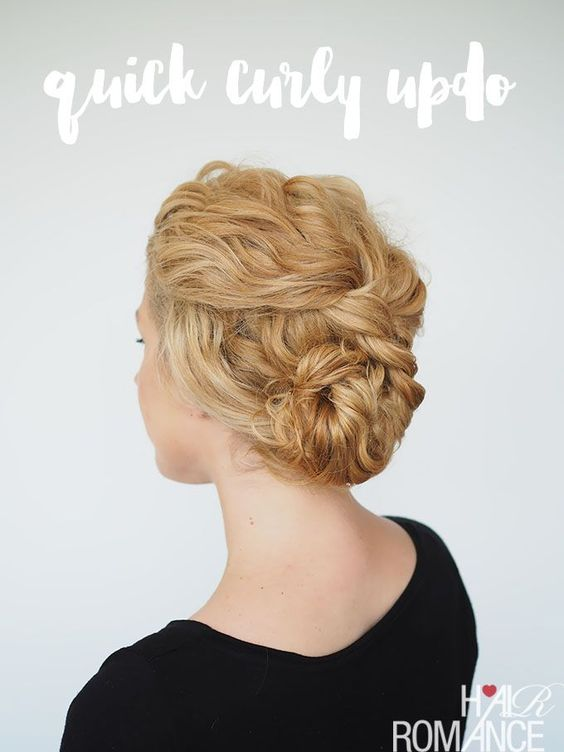 Short Natural Curly Up-Do Easiest Short Curly Hairstyles Ideas 4