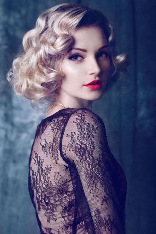 Short Vintage Curls Easiest Short Curly Hairstyles Ideas 1