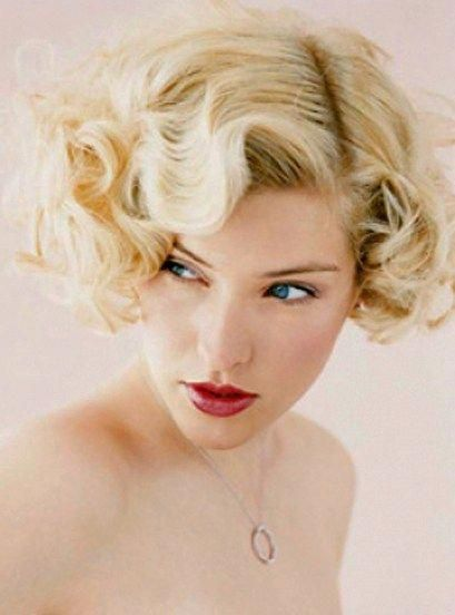 Short Vintage Curls Easiest Short Curly Hairstyles Ideas 5