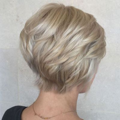 Short Wedge Bob for Seniors with Thin Hair That Give Youthful Look 5