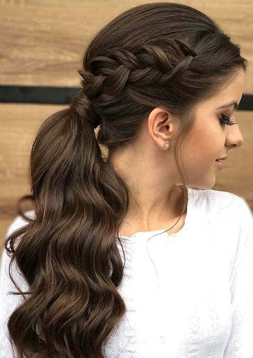 Side Braided Hairstyle Easy Updos for Short Hair to do Yourself 1
