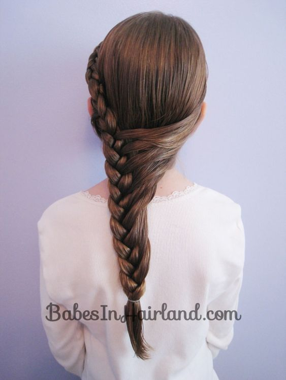 Side Braided Hairstyle Easy Updos for Short Hair to do Yourself 3
