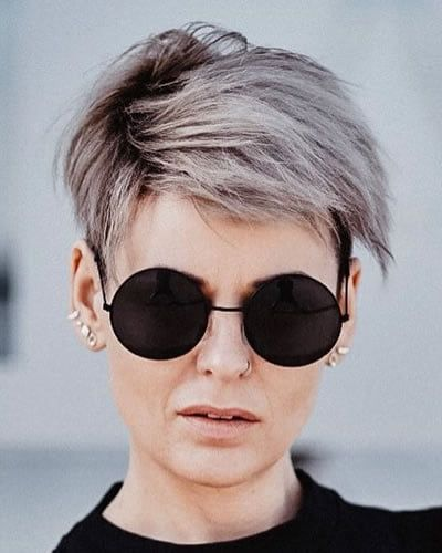 15 Best Older Women Hairstyles for Formal Events (Updated 2021) Side-swept-pixie
