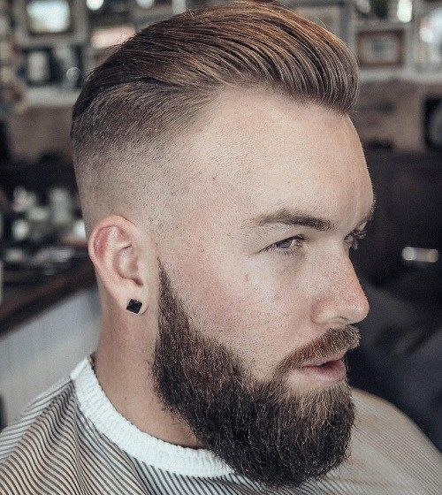 Slick Back haircuts for men with thick hair 6
