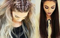 79 Most Inspiring Braids Hairstyle for Women Space-Braided-Bun-with-Pig-Tails-Most-Inspiring-Braids-Hairstyle-for-Women-5-235x150