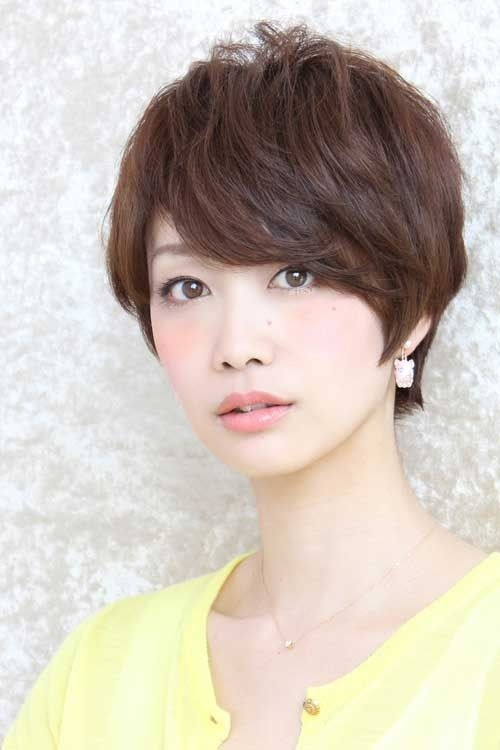 Textured Pixie With Bangs Asian hairstyles for women 4