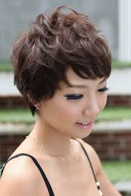 Messy Pixie Asian hairstyles for women 7