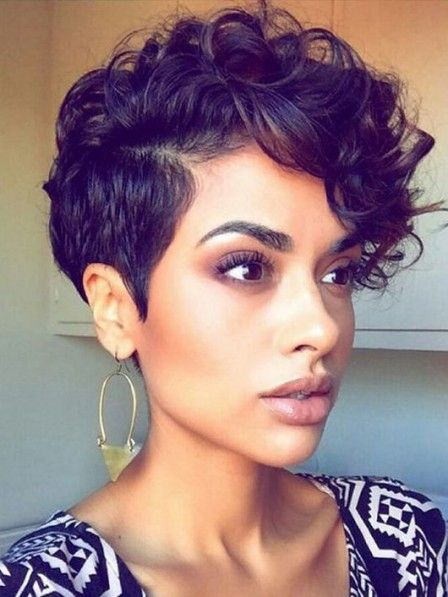 60 Easiest Short Curly Hairstyles Ideas that Look Awesome Voluminous-Curly-Pixie-Easiest-Short-Curly-Hairstyles-Ideas-1