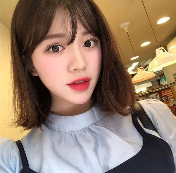 Wispy Bangs With Bangs Asian hairstyles for women 2