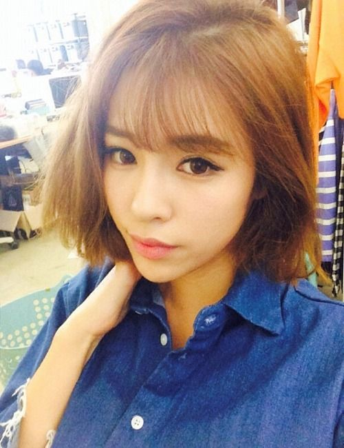 Wispy Bangs With Bangs Asian hairstyles for women 4
