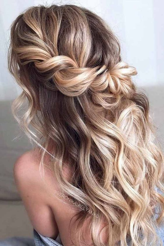 Half Up Half Down + Twist Hairstyles for Bridesmaid 4