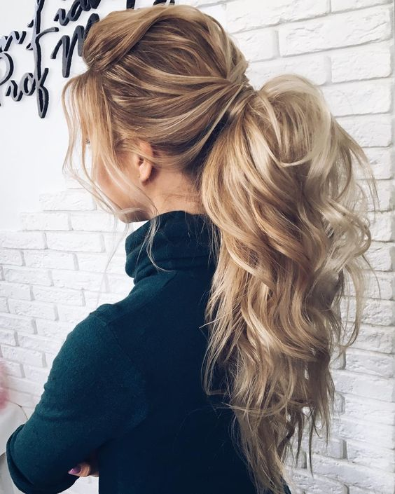 Textured Ponytail Hairstyles for Bridesmaid 4