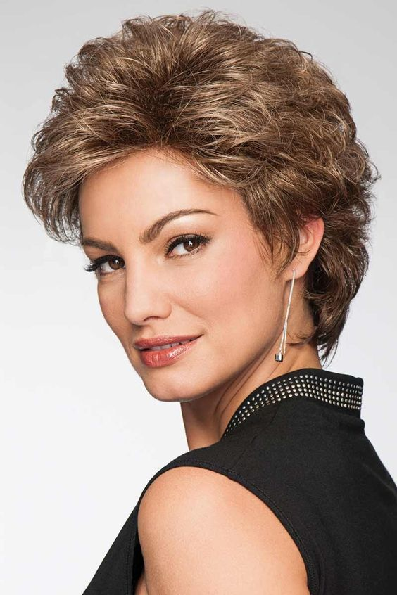 Shorter Shag Hairstyle for Women Over 50 with Fine Hair 4