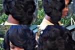 Side Swept Curl Bob Hairstyle For African American Women 5