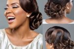 Curl Chignon Hairstyles for African American Women 4