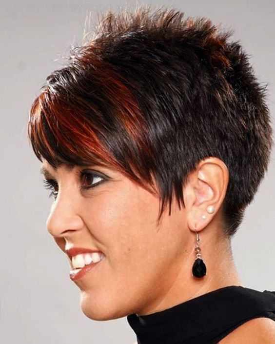 Spiky Pixie Hairstyle for Women Over 50 with Fine Hair 6