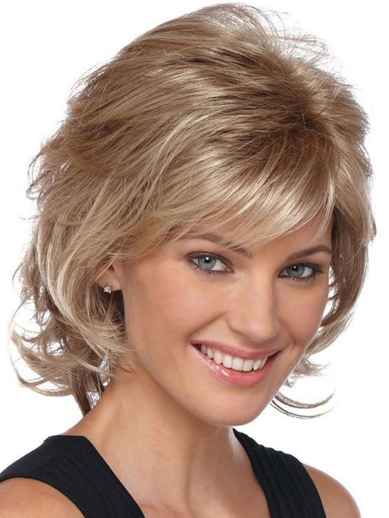 Medium Lenght Hairstyle for over 40 and Overweight Women