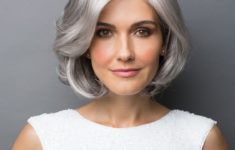 hairstyle tips for women over 50 with gray hair