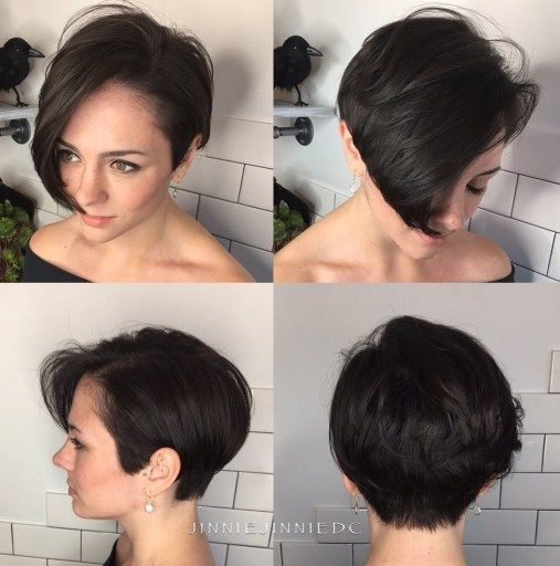 25 Short Haircut Styles that Make You Look Way Younger (Updated 2021) Asymmetrical-pixie-bob-with-bangs