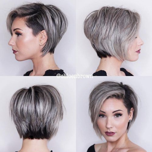 25 Short Haircut Styles that Make You Look Way Younger (Updated 2021) Disconnected-pixie-bob