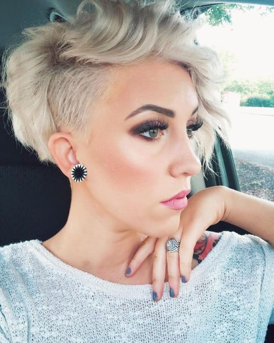 25 Short Haircut Styles that Make You Look Way Younger (Updated 2021) Pixie-with-shaved-sides