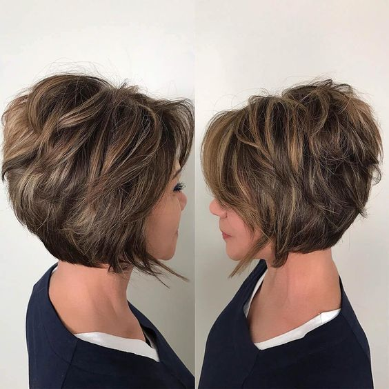 15 Casual Short Hairstyles for Women Over 50 (Updated 2021) Short-stacked-bob-haircut