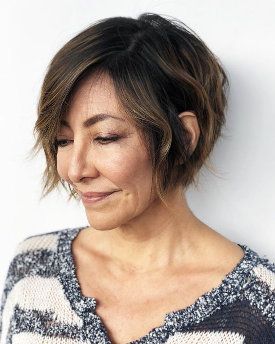 25 Short Haircut Styles that Make You Look Way Younger (Updated 2021) Side-swept-wedge