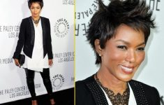 Angela Bassett Straight Casual Pixie Do
