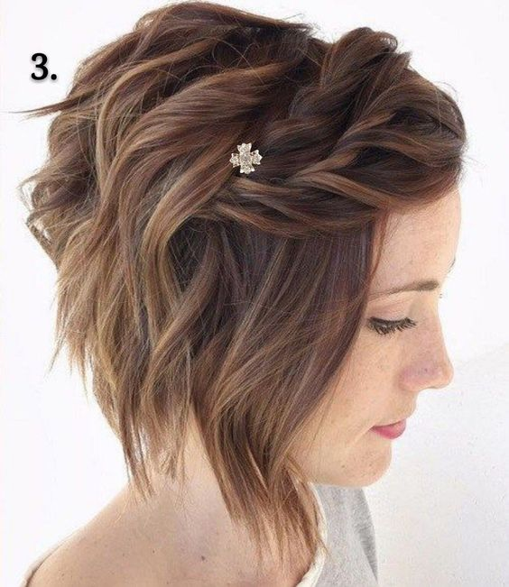Chic Updos for Short Hair for Touch of Freshness and Beauty on How You Look