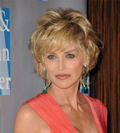 Sharon Stone Wavy Casual Bob Do
