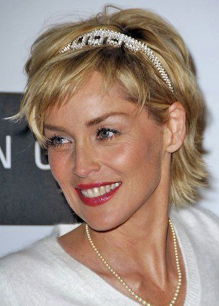 Sharon Stone Hairstyles As Wonderful Choices for Older Women with Short Hair Length c54a29963ba9e5d2b22a3d6e04d7acb7