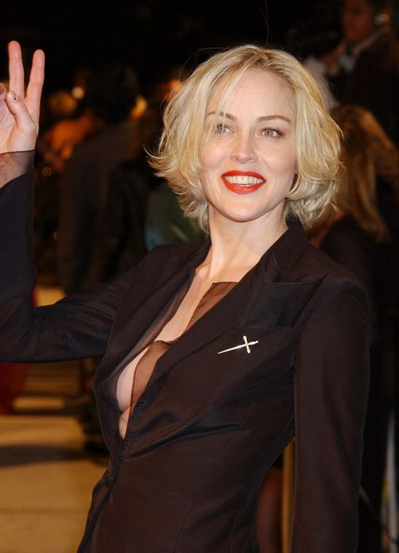 Sharon Stone Hairstyles As Wonderful Choices for Older Women with Short Hair Length