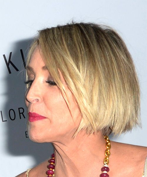Sharon Stone Blonde Bob Hairstyle