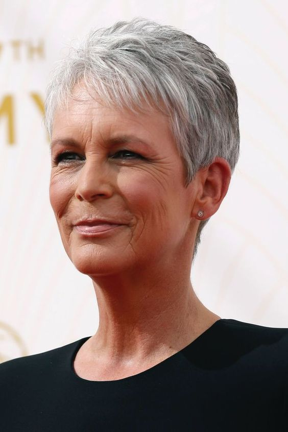 Jamie Lee Curtis Short Straight Pixie Hair Style