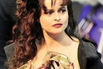 Helena Bonham Carter Elegant Wavy Do With Long Bangs
