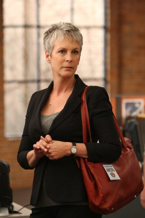 Jamie Lee Curtis Short Pixie with Layered Bangs