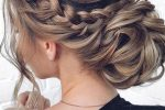 Pretty Wavy Low Bun Updo