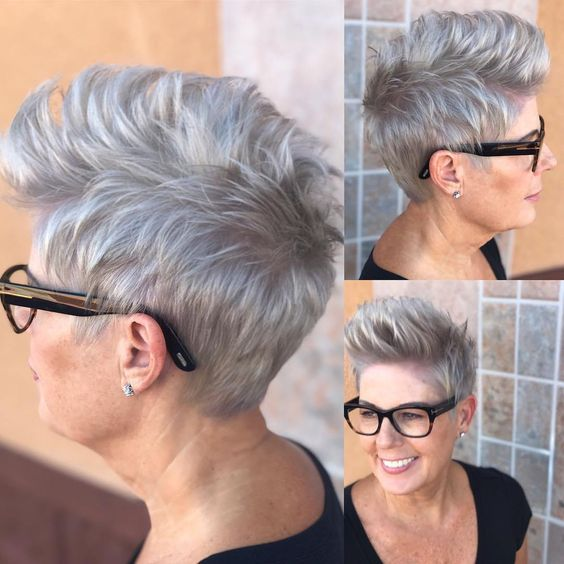 Easy and Sassy Short Spiky Hairstyles for Older Women to Get Youthful and Flattering Look 8cf1833356c625e59a5f600d77f101ea