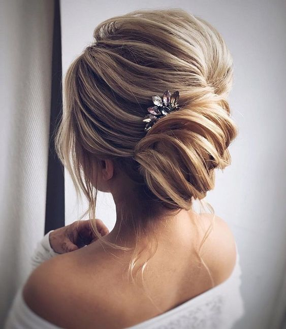Caramel and Blonde Chignon