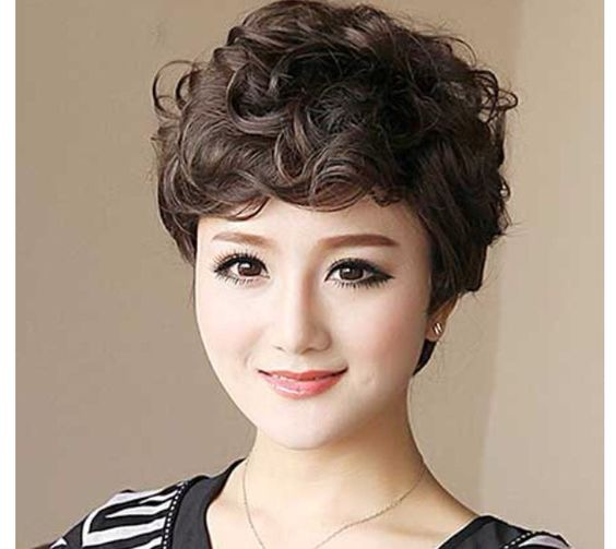 Professional Curly Pixie Cut