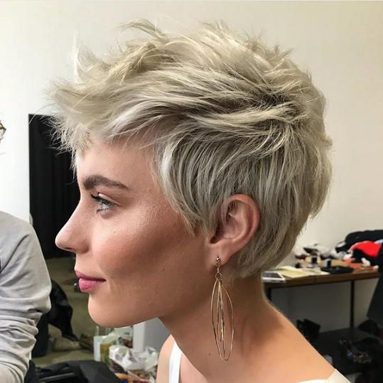 Curly Pixie with Classic Haircut