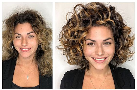 Multi Texture Perm Hairstyle